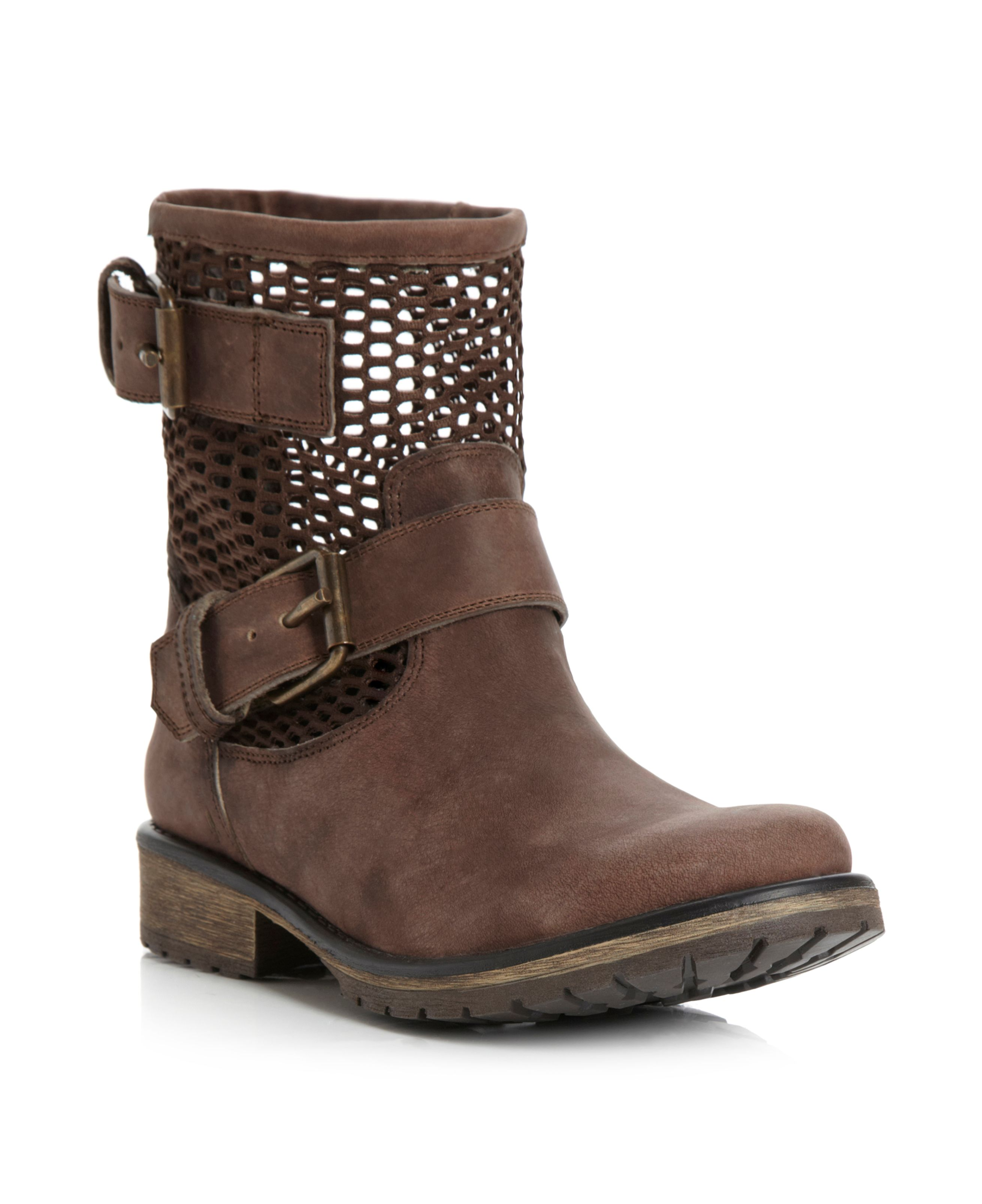Flank cut out biker boots