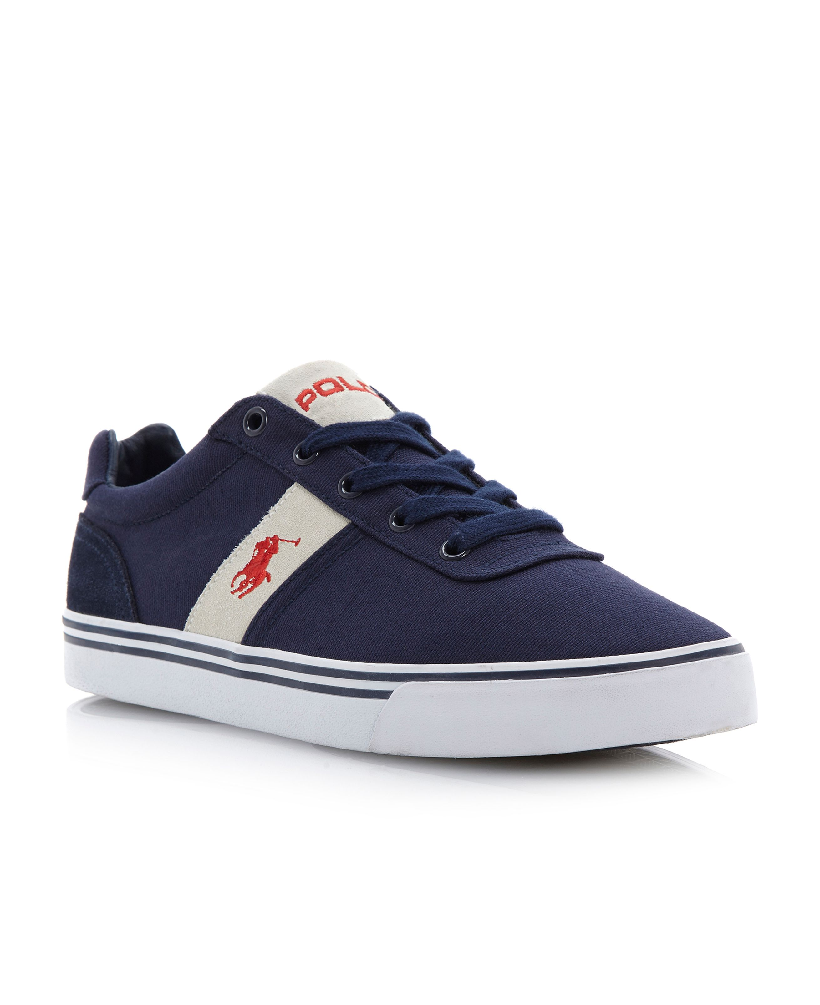 Hanford-Ne suede side stripe sneaker trainers