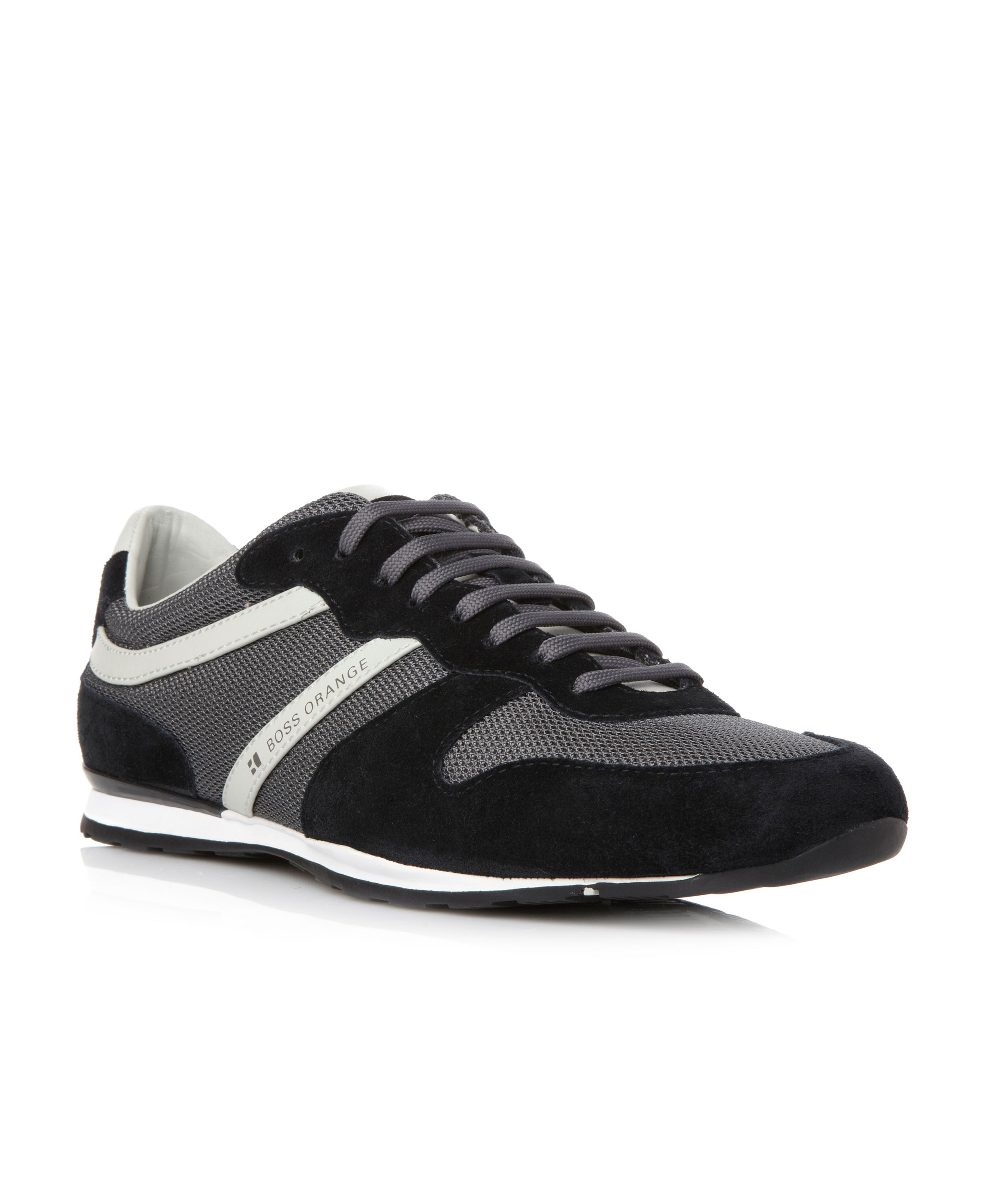 Orlet combo side stripe runner trainers