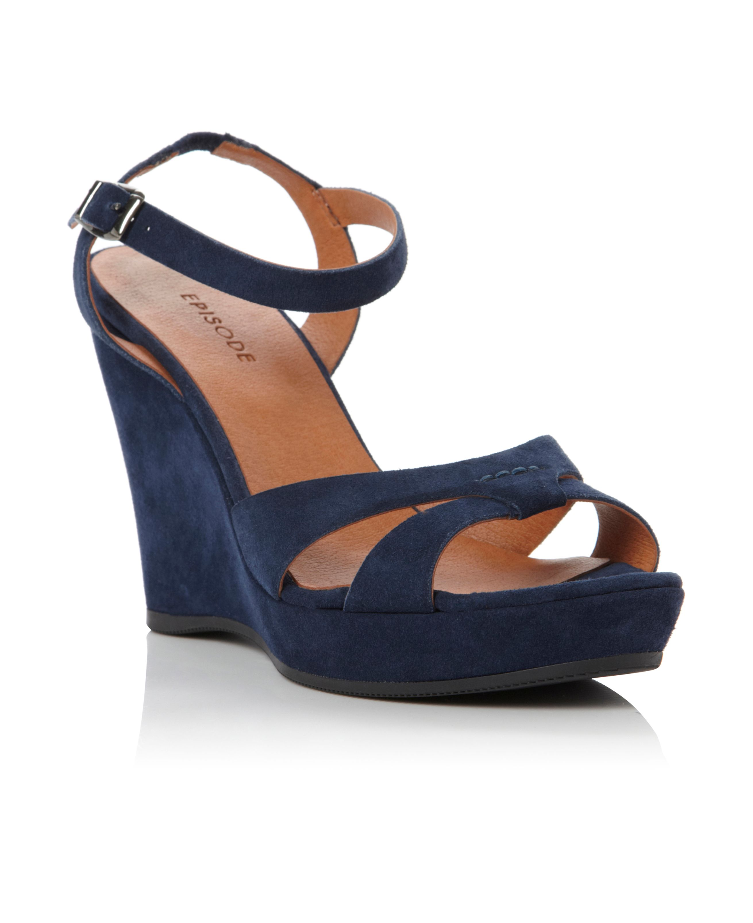 Gratitude ankle strap wedge sandals