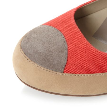 FitFlop Due Canvas Flatform Canvas Ballerina Shoes