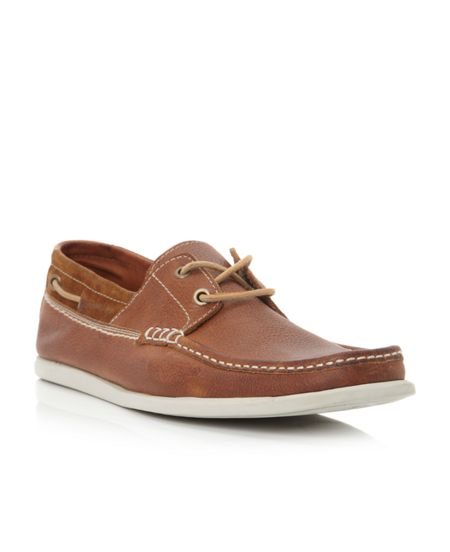 Dune Barracuda square toe 2 eye boatshoe