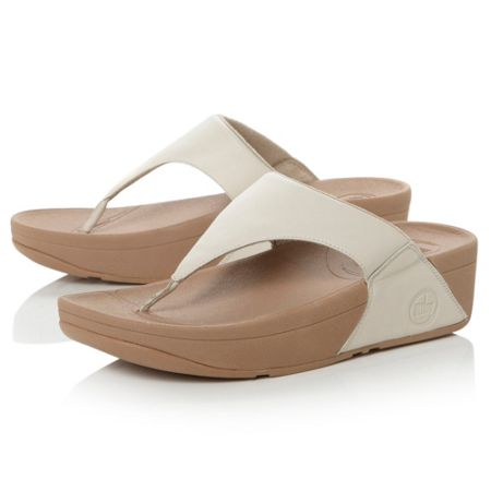 FitFlop Lulu plain leather t-post sandals