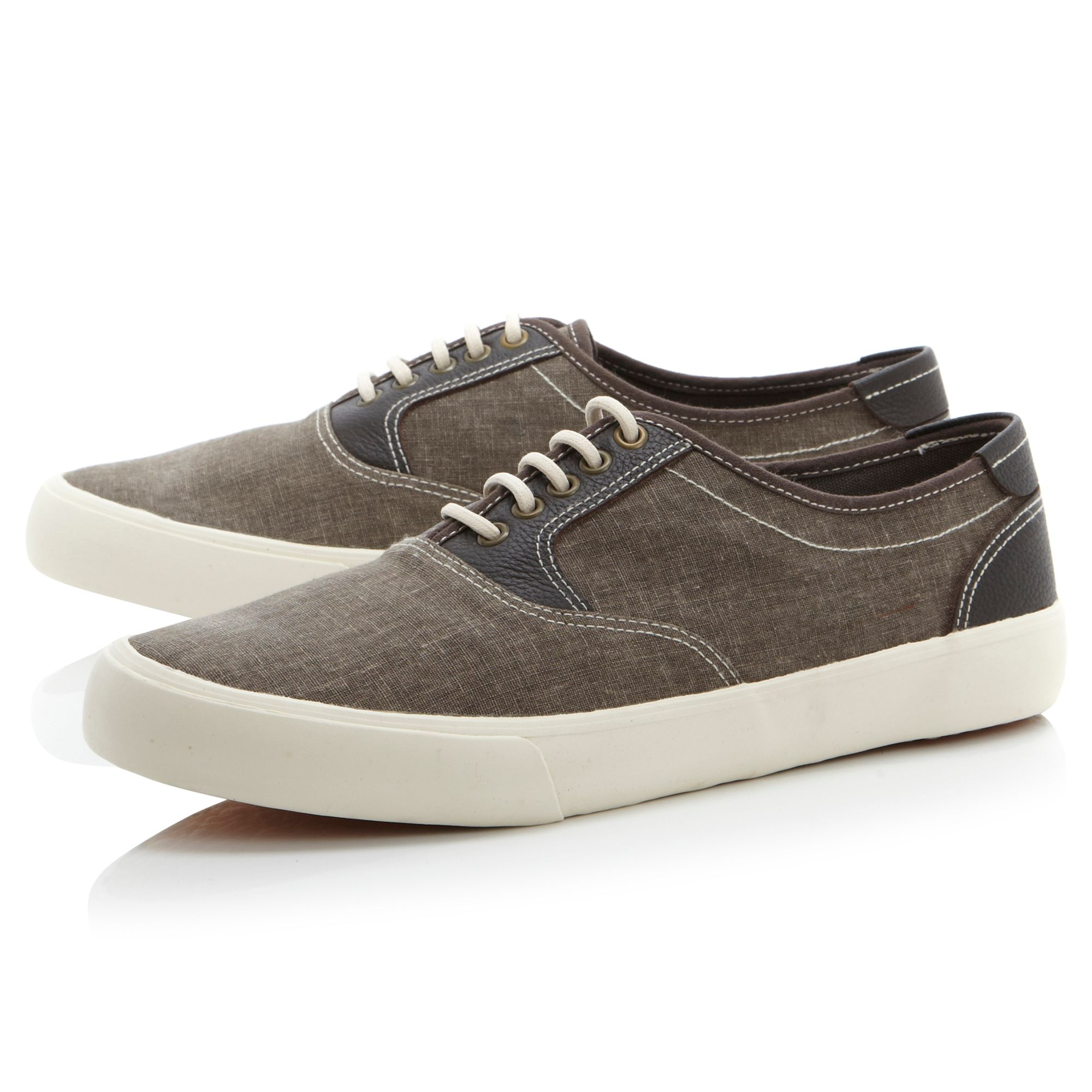 Dune tricks canvas plimsoll shoes