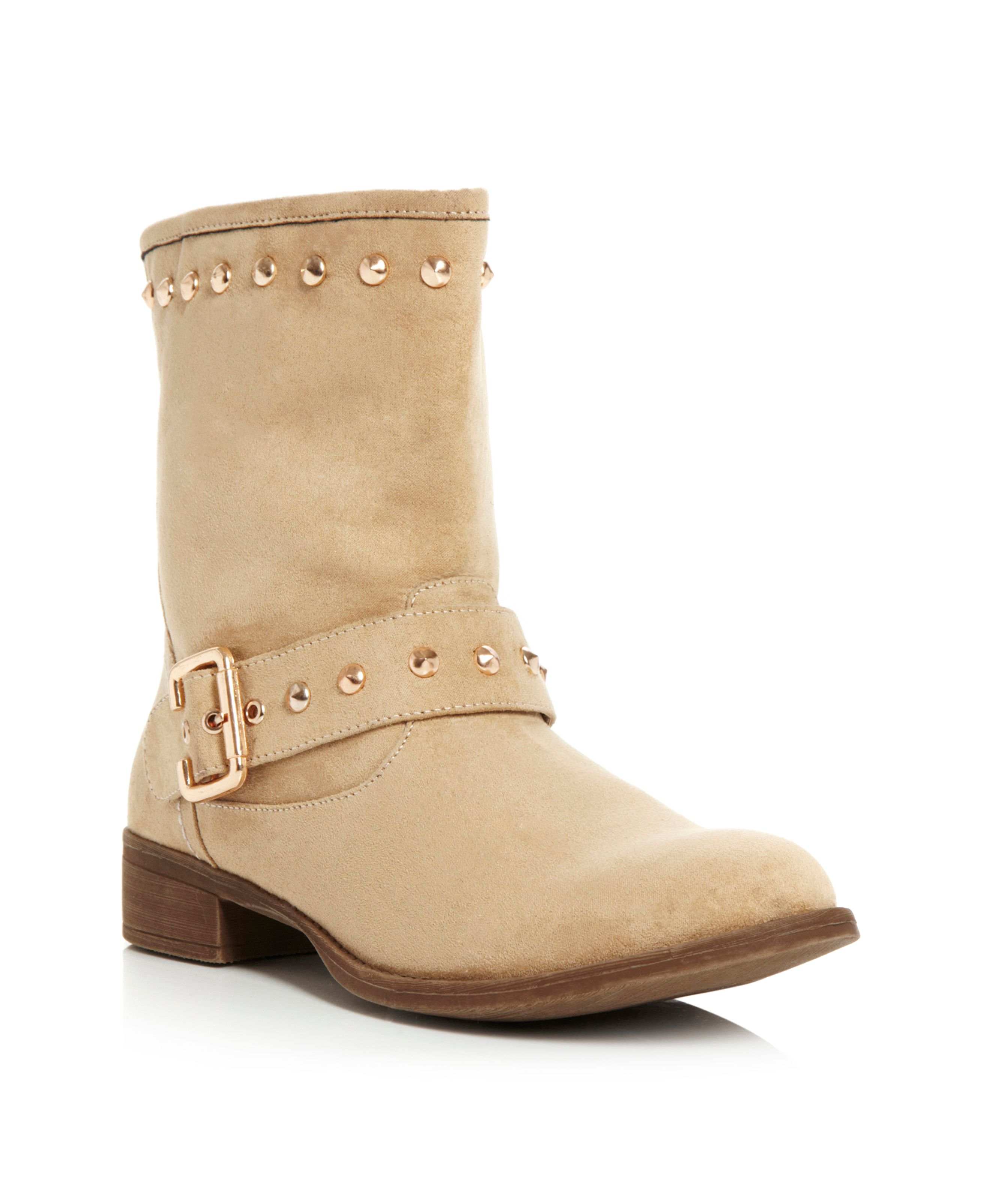 Preeda Studded Buckle Ankle Boots