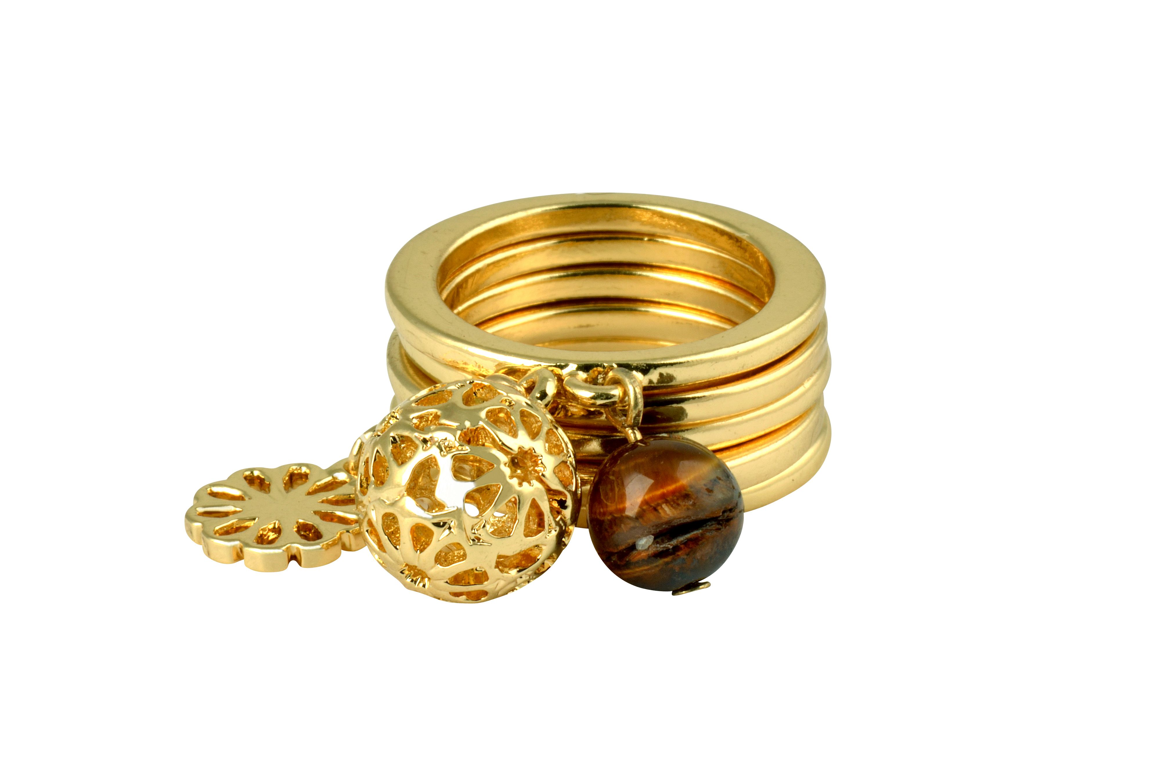 Ziba Signature Tiger Eye Stacking Rings