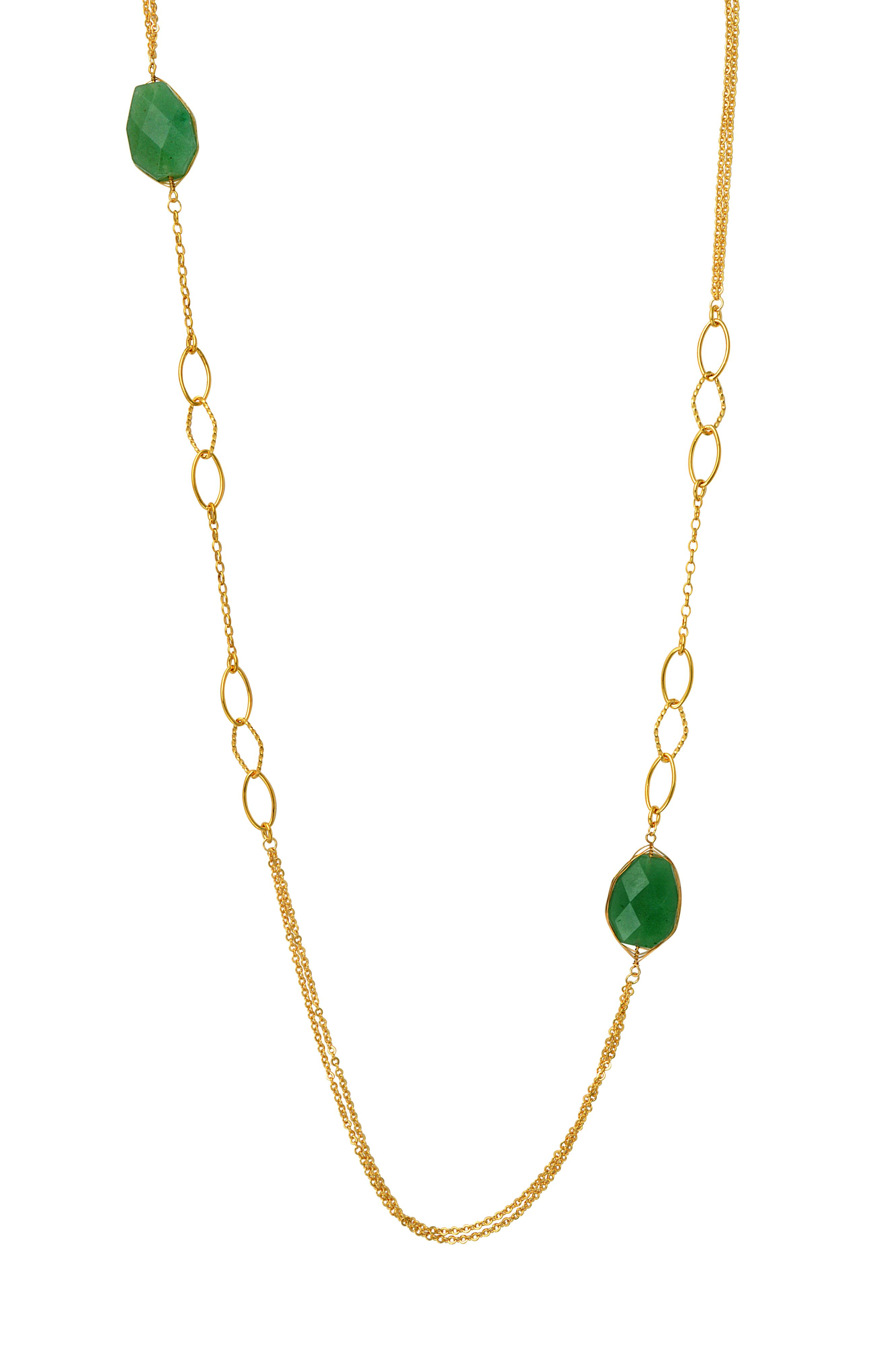 Malay jade long necklace