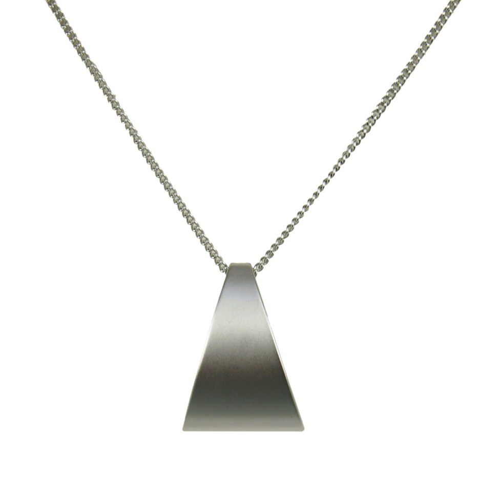 Layered geometric triangle necklace