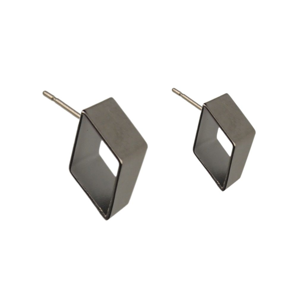 Layered geometric cube earrings