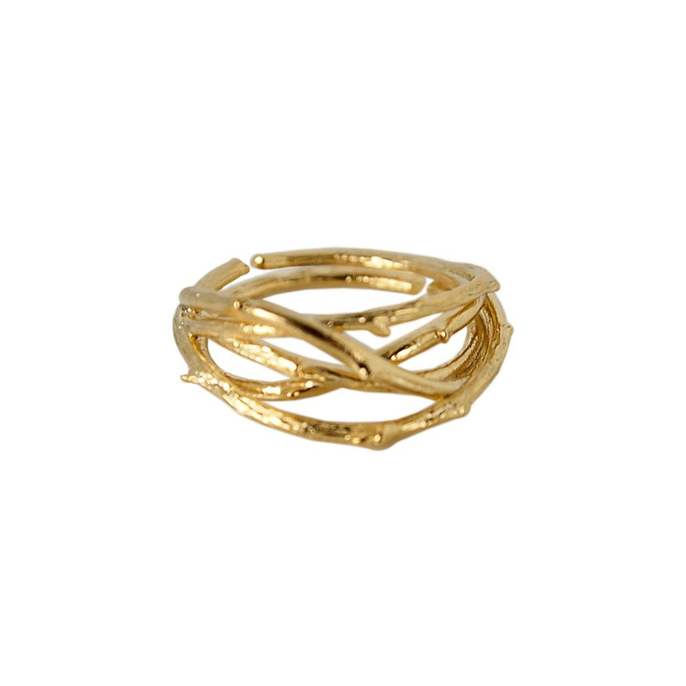 Layered twig ring