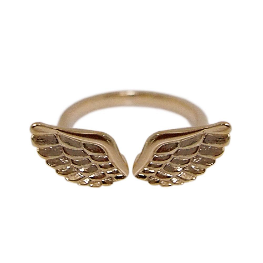 Layered wings ring