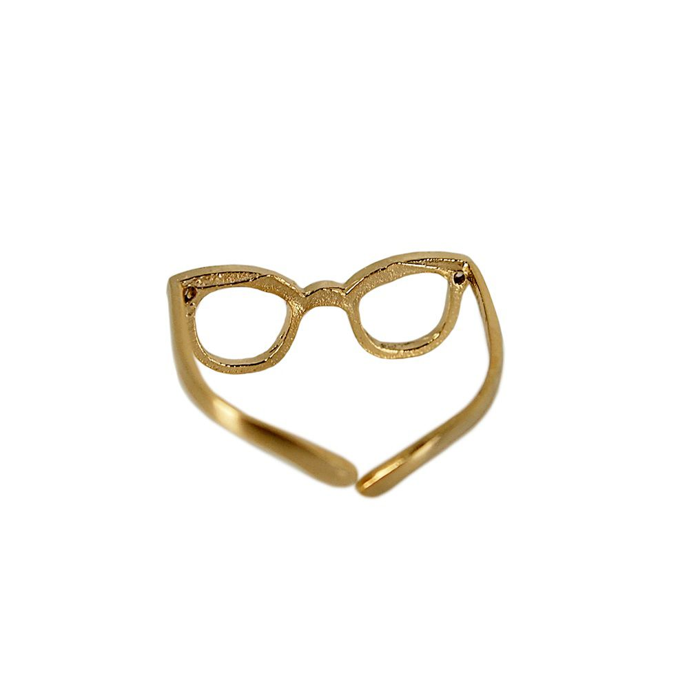 Layered sunglasses ring