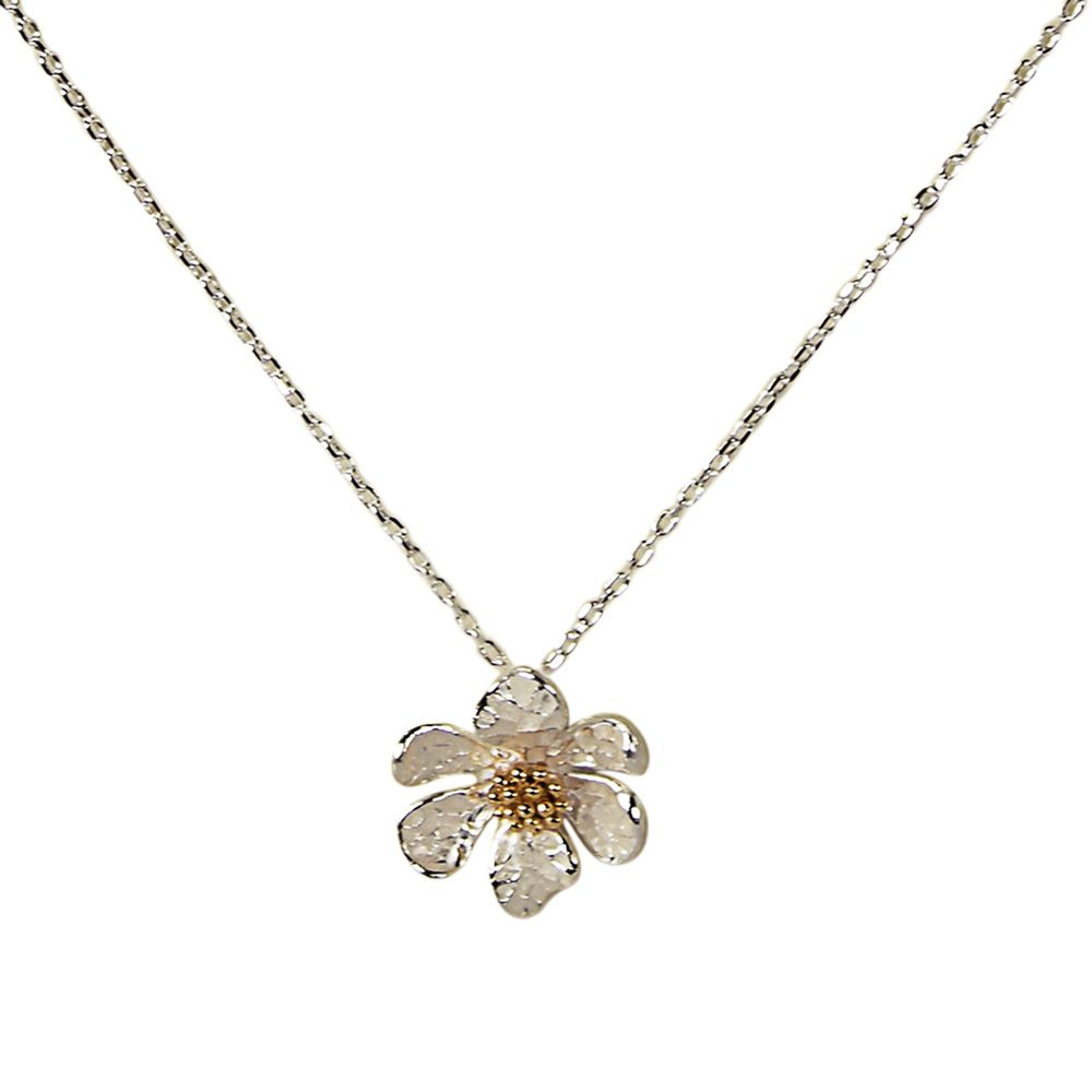 Layered 3d flower necklace