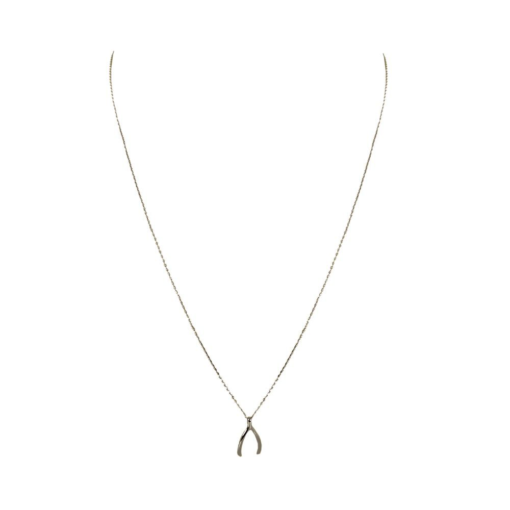 Layered wishbone necklace