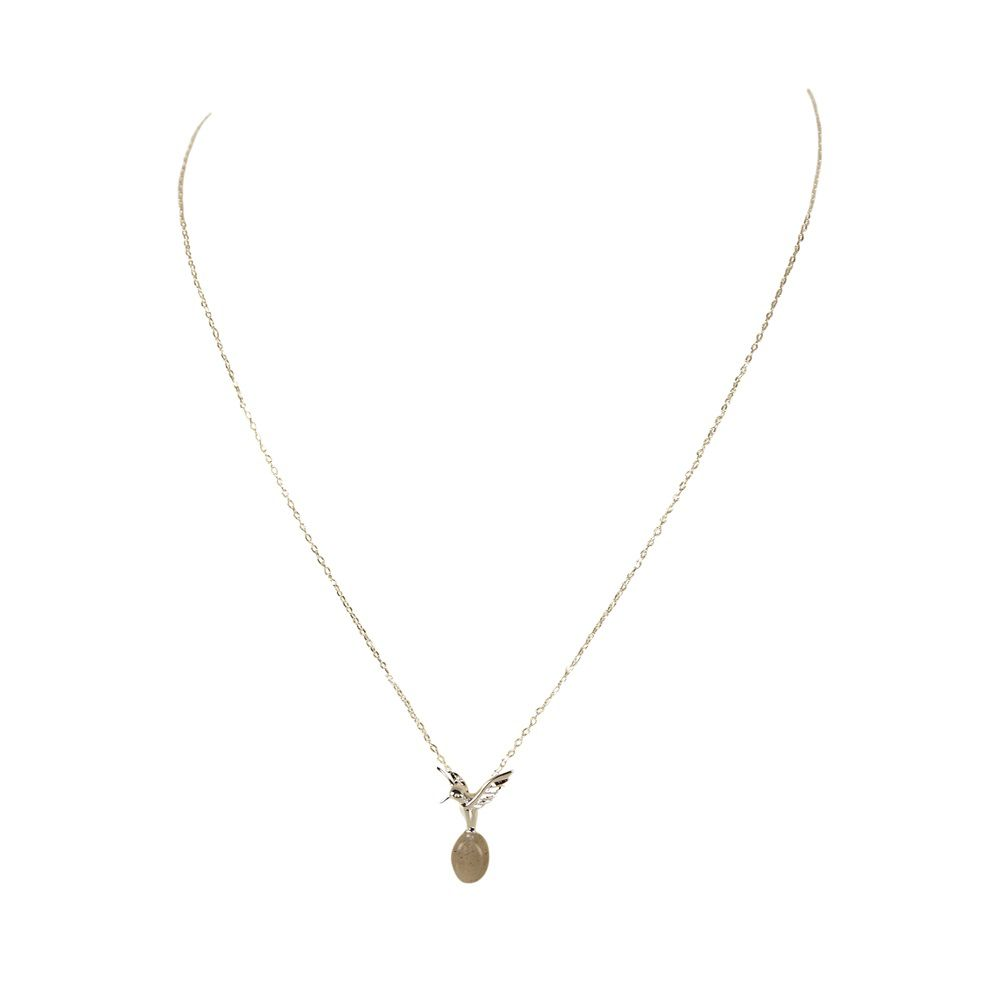 Layered bird and nest necklace