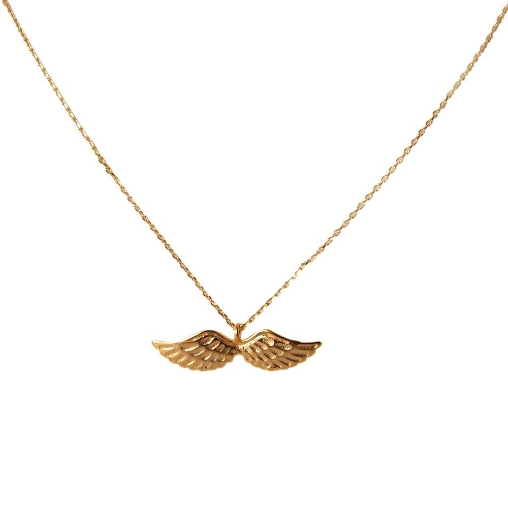Layered wings necklace