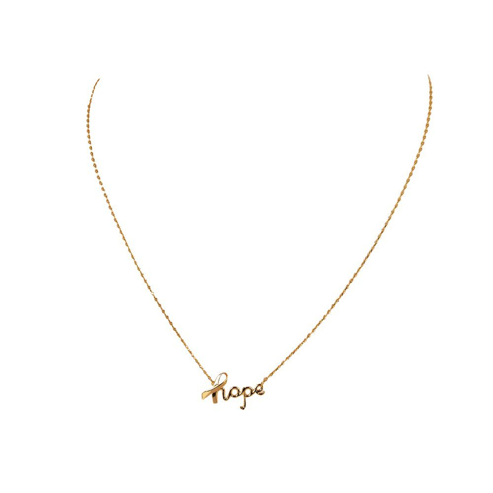 Layered hope necklace