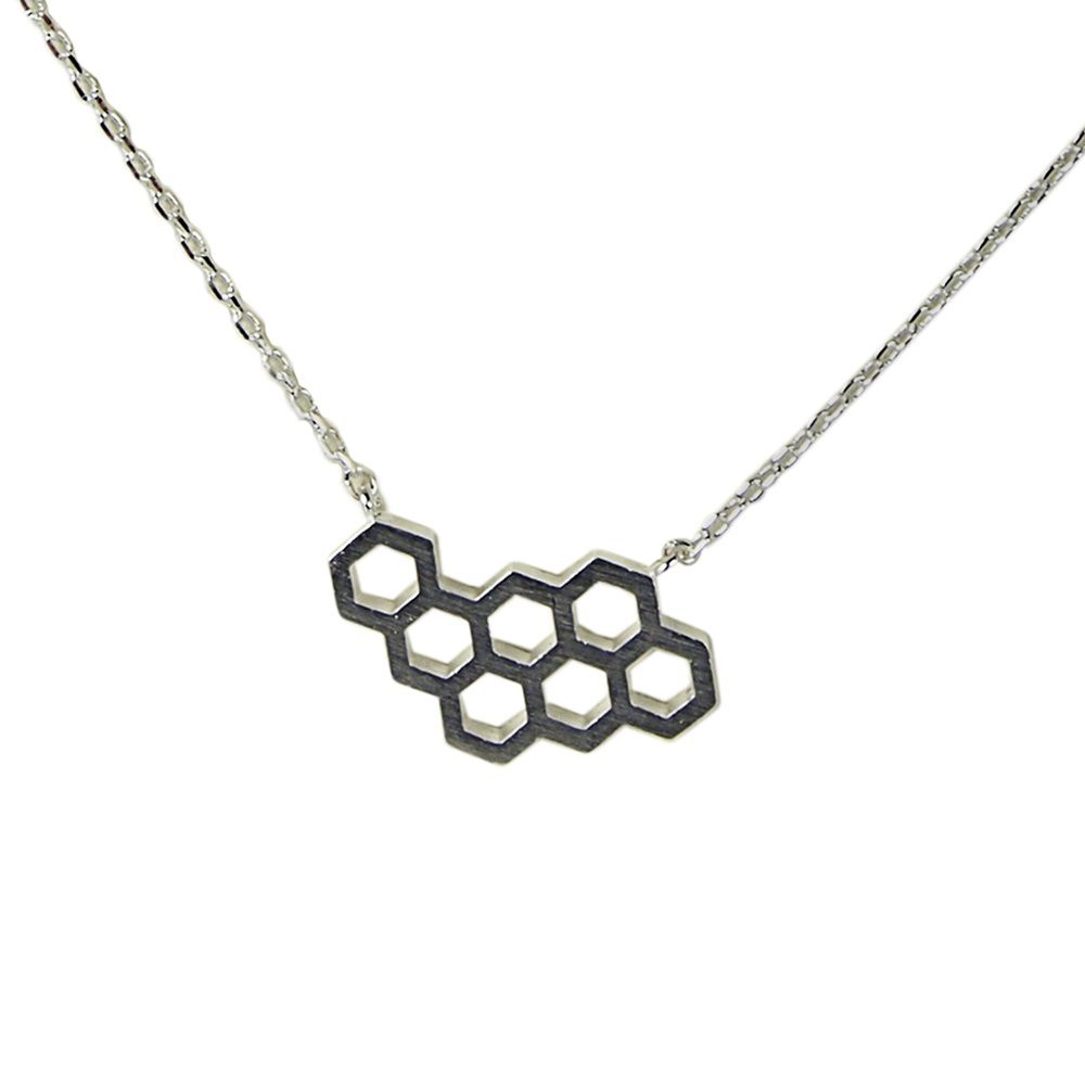 Layered circles cut out necklace