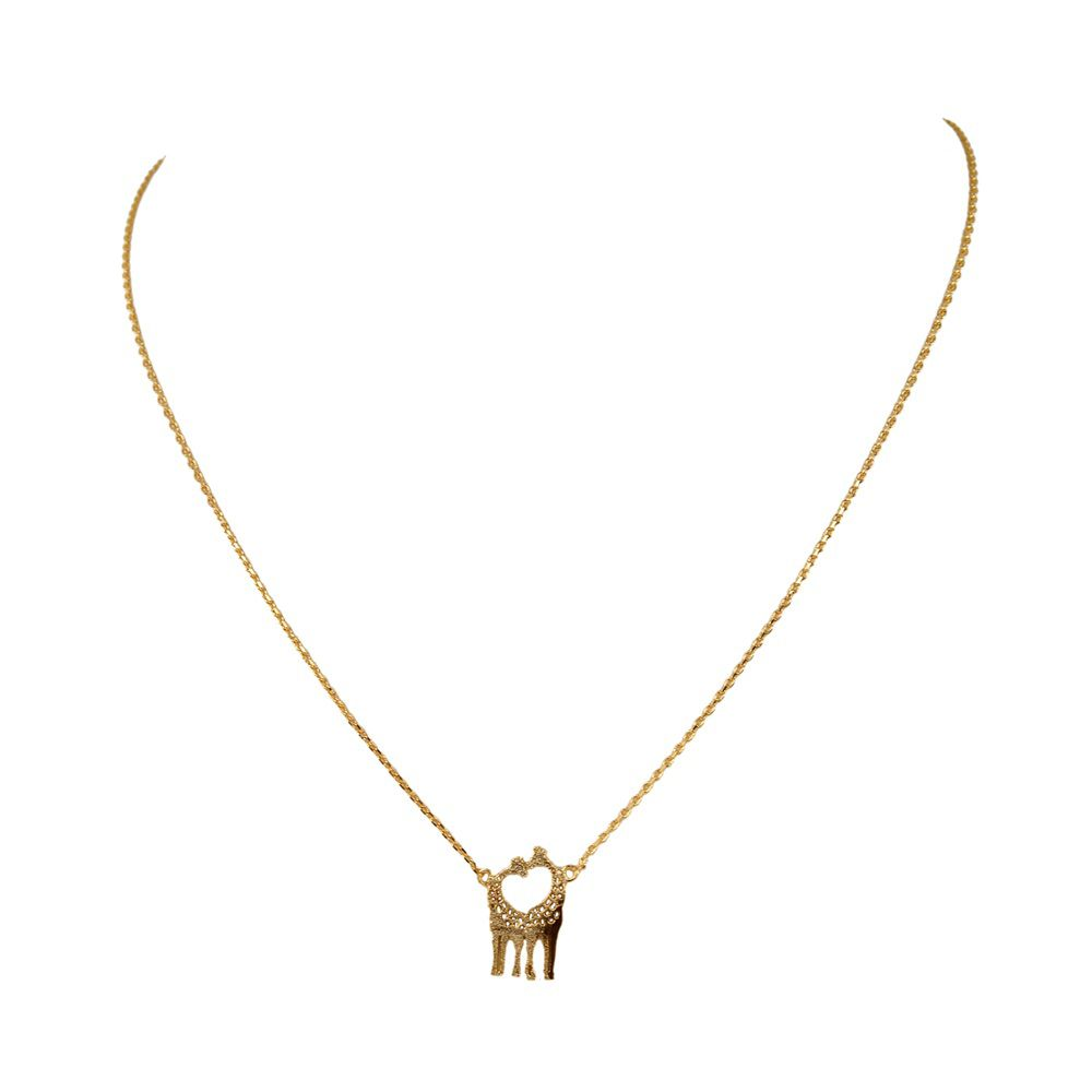 Layered giraffe necklace