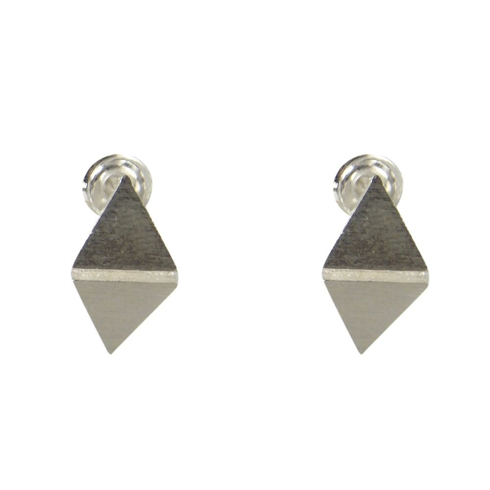 Layered triangle foldover earring