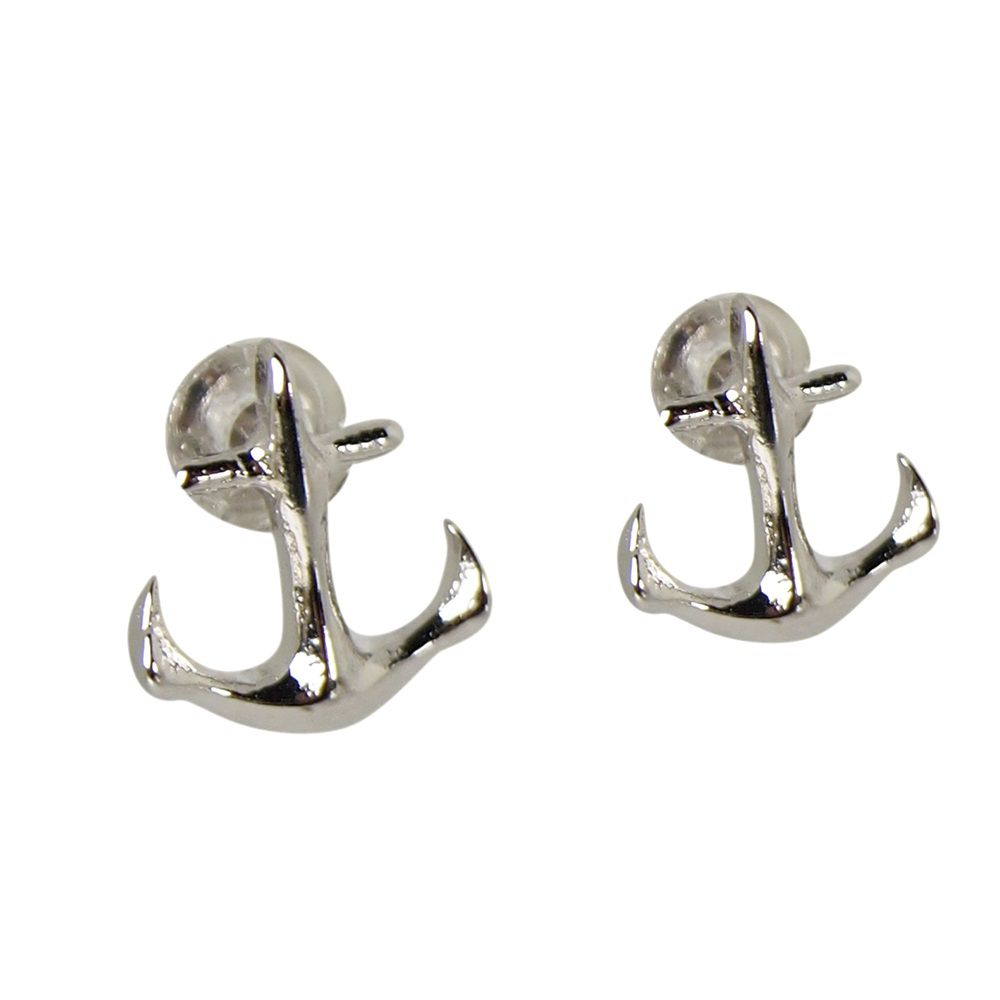 Layered anchor earrings