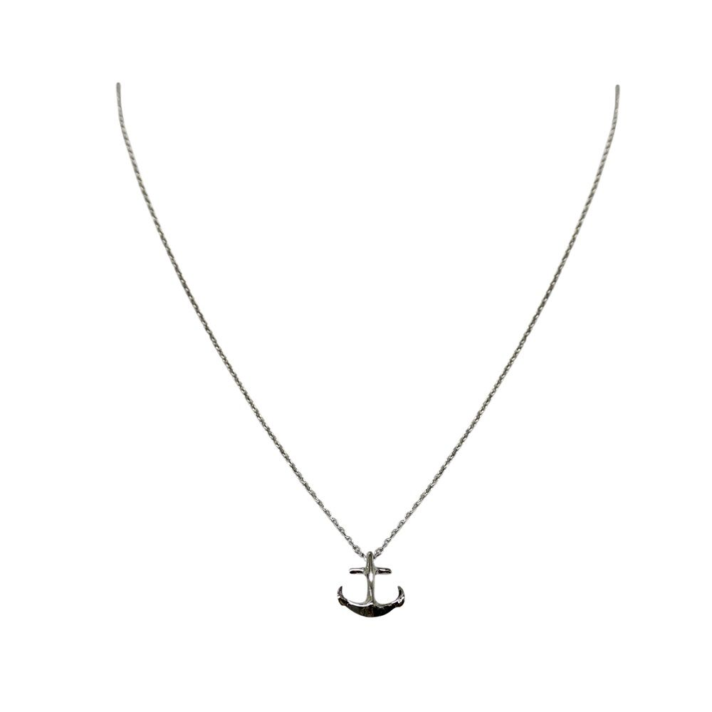 Layered anchor necklace