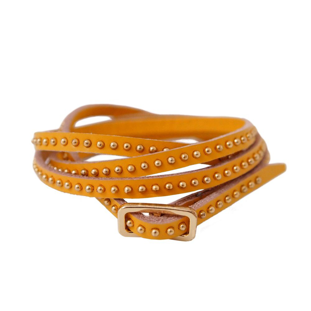 Hannah leather wrap bracelet