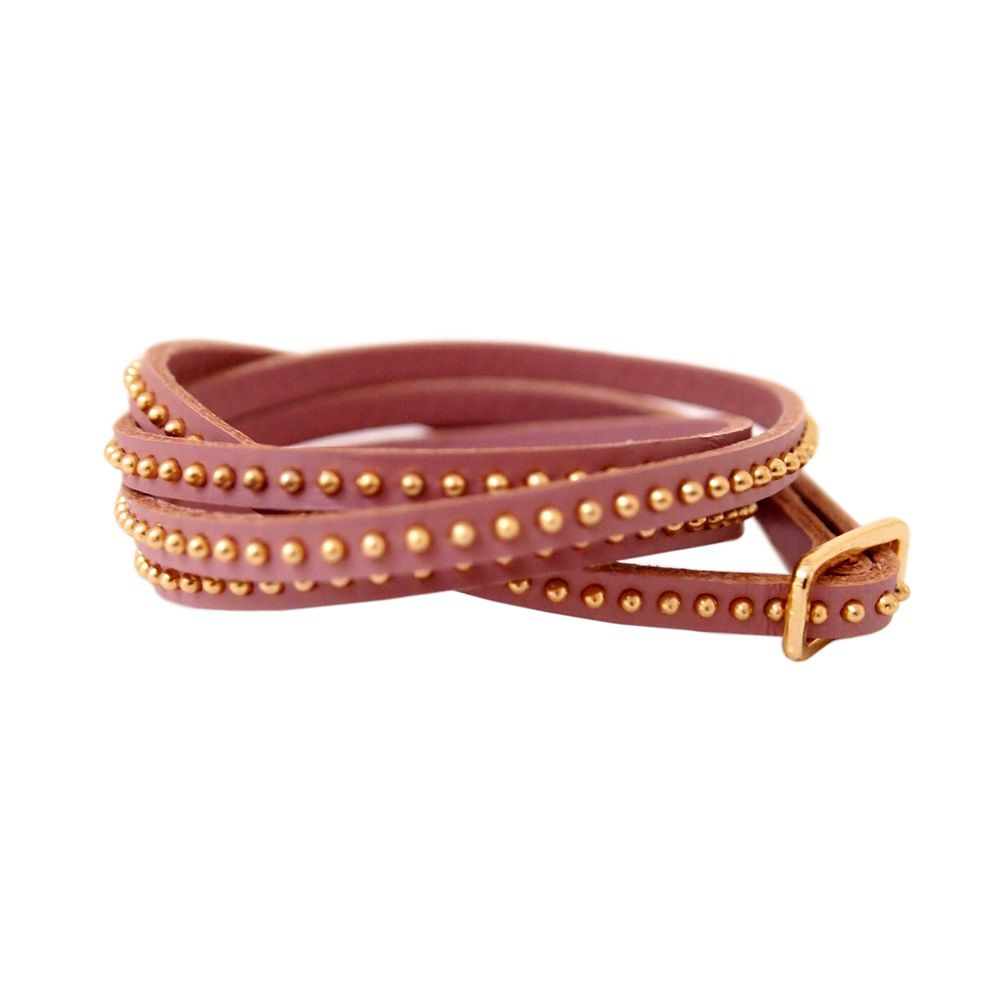 Hayley leather wrap bracelet