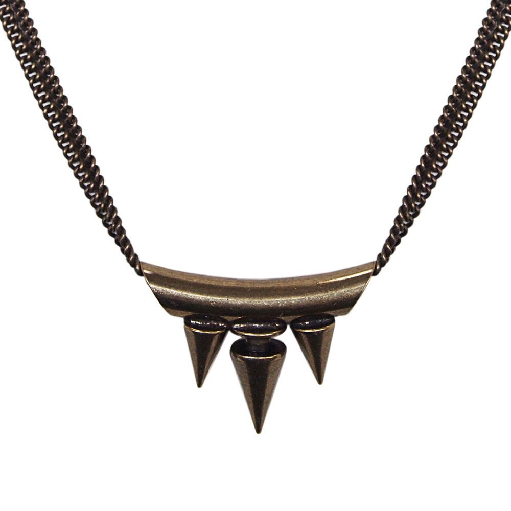 Punk`d spike bar necklace