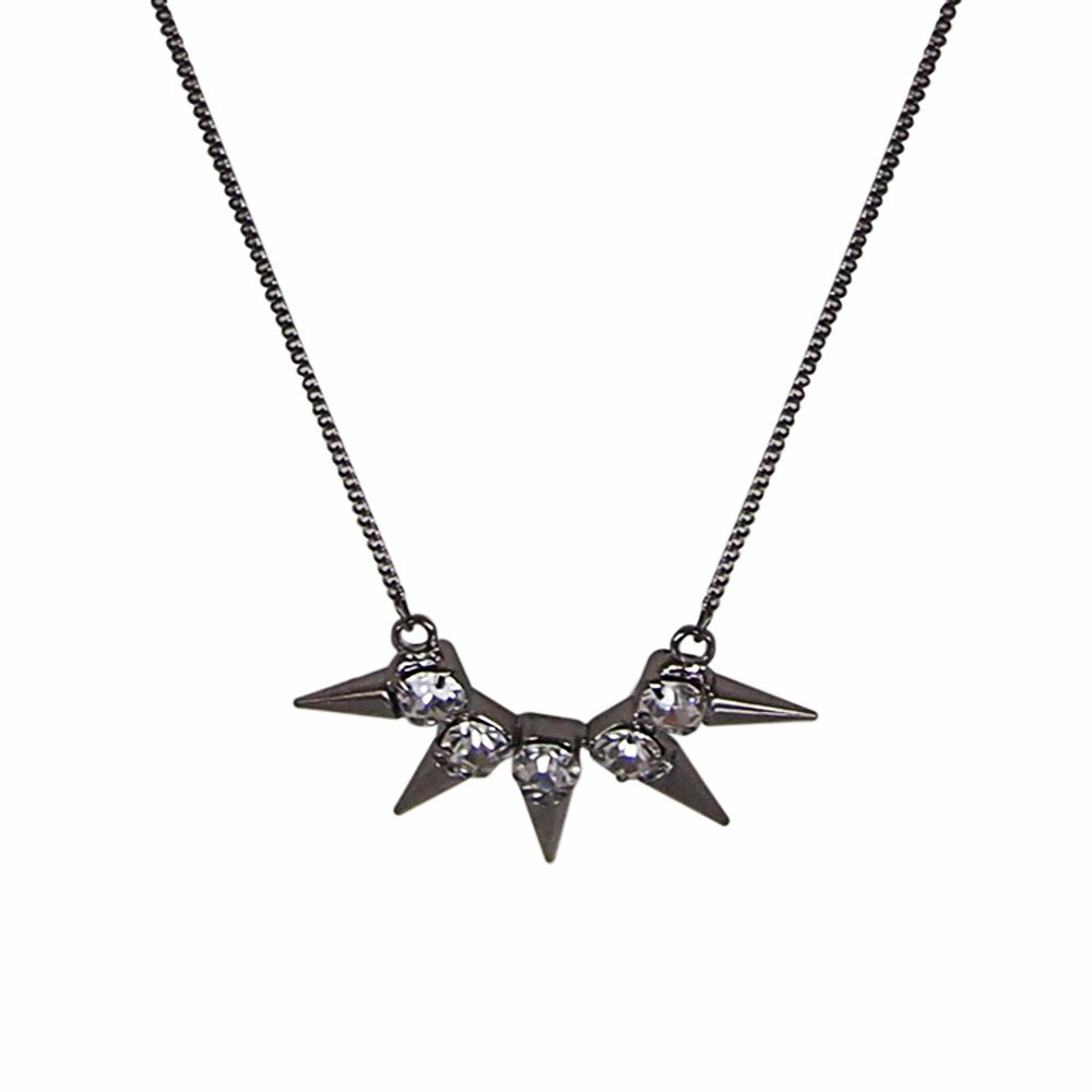 Punk`d spike stone necklace