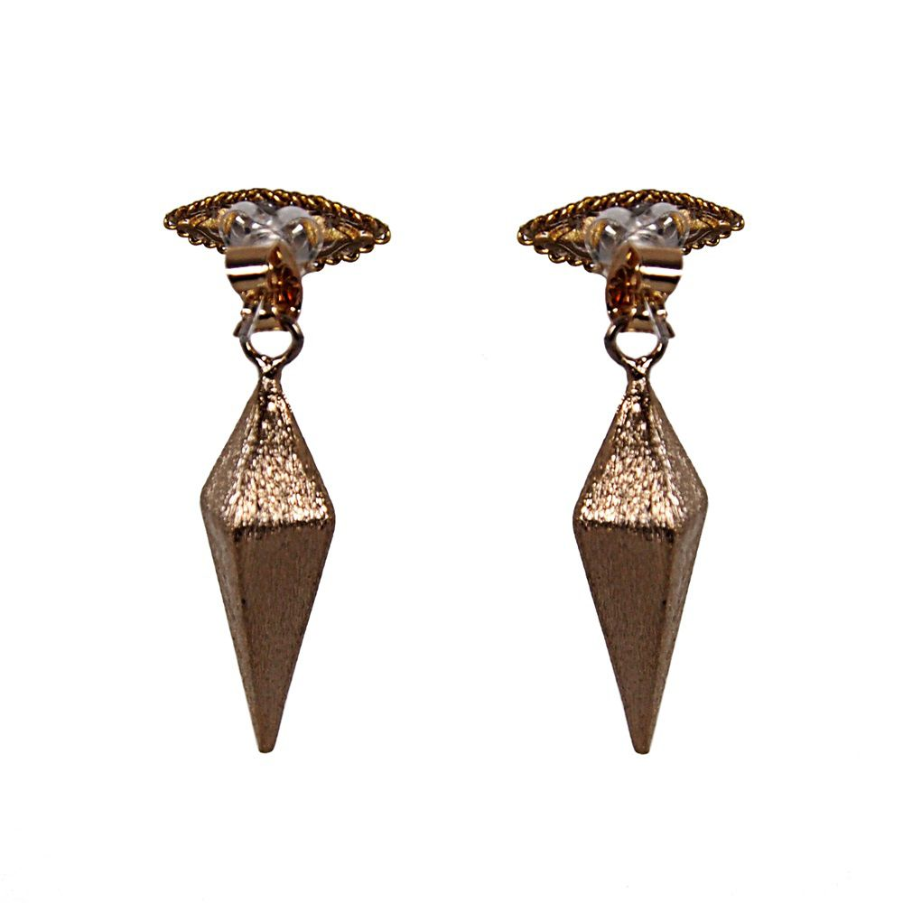 Punkd solid spike drop earrings