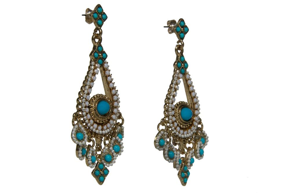 Global grunge chandelier cascade earrings