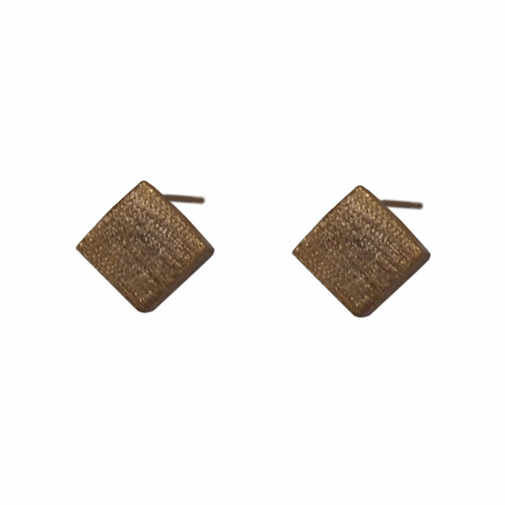 Layered 3D square earrings