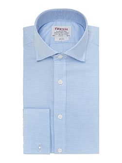 Dogtooth Check Slim Fit Cutaway Collar Shirt