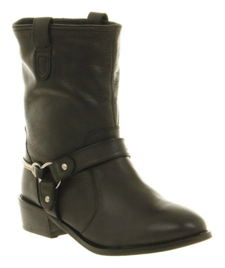 Office Daily Stirrup Calf Boots