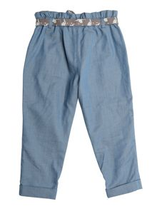 Girls Cinderella Blue Trouser