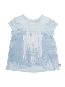 Disney Courage & Kind Girls Cinderella Castle Printed T-Shirt