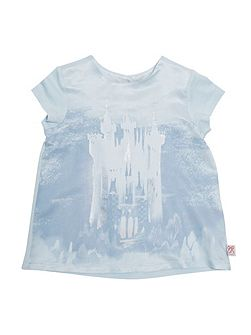 Girls Cinderella Castle Printed T-Shirt