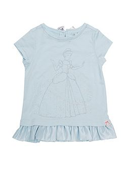 Girls Cinderella Peplum T-Shirt