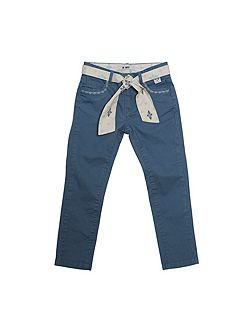 Girls Blue Canvas Jeans