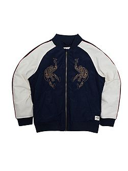 Boys Embroidered Spiderman Bomber Jacket