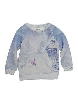 Girls Sparkly Frozen Sweatshirt