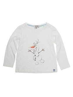 Girls Olaf Frozen Print T-Shirt