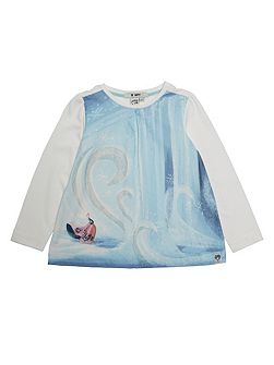 Girls Frozen Castle T-Shirt