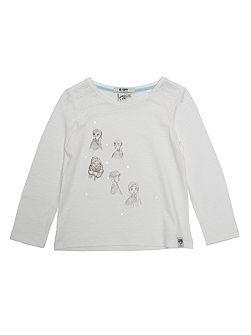 Girls Frozen Print T-Shirt