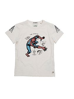 Boys Embroidered Spiderman T-Shirt