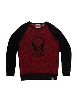 Boys Embroidered Spider Powers Sweatshirt
