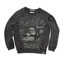 Disney Courage & Kind Boys Mickey Moto Print Sweatshirt
