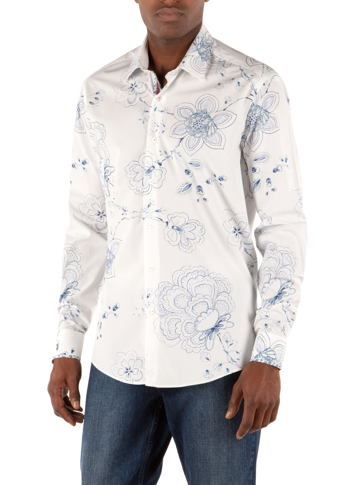 Pedicels smudgy flower shirt