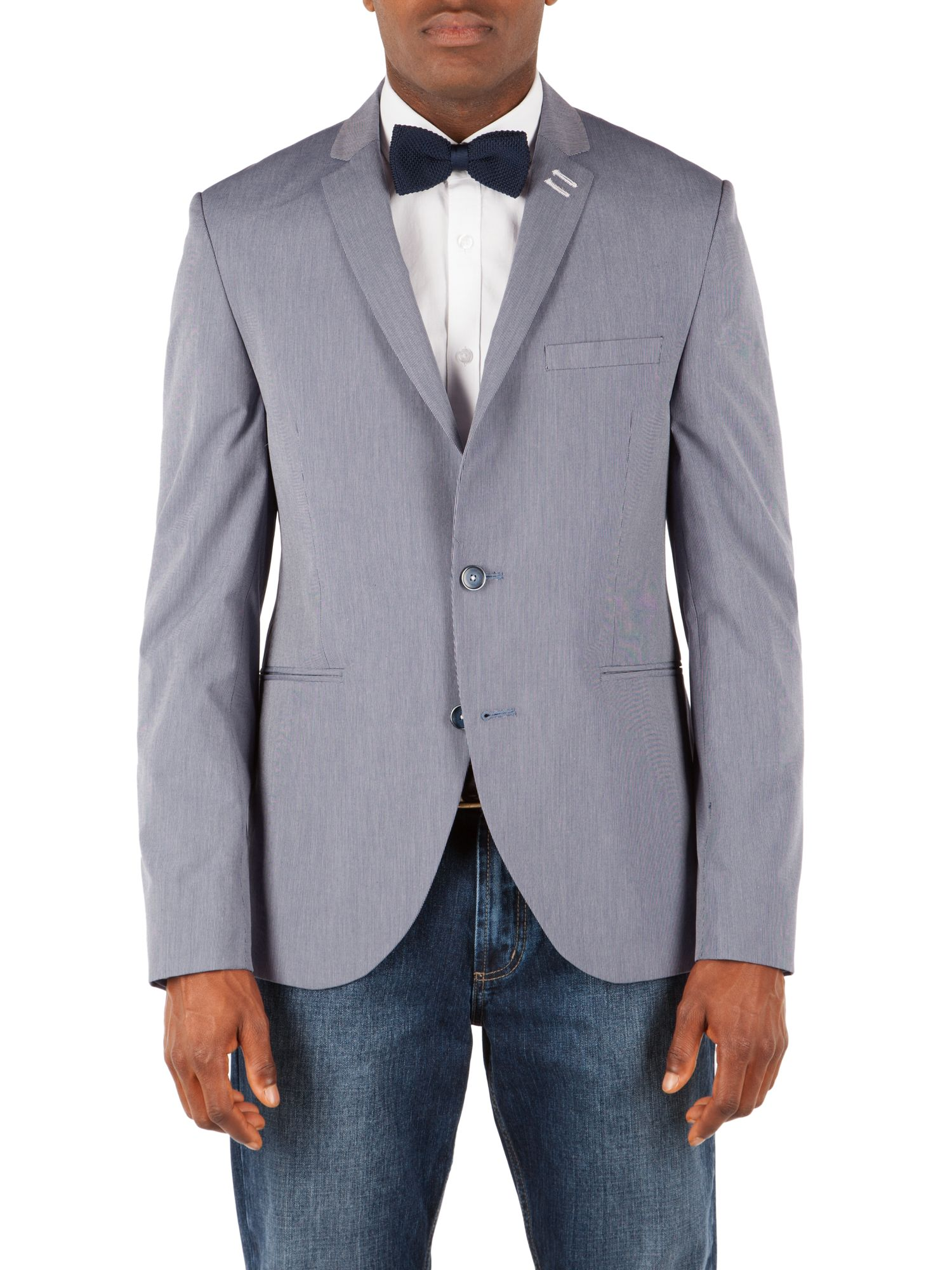 Stripe notch lapel jacket